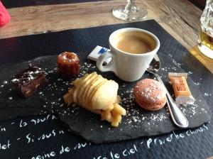 Dessert selection plate