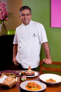 Vivek with his Marmite curry creations