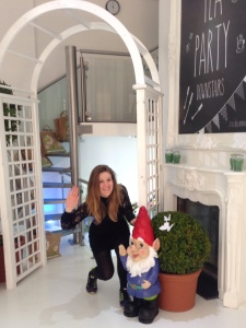 Gnorman the Asda Gnome and I welcome guests