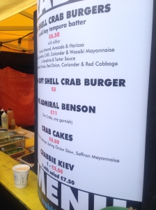 The CrabbieShack menu