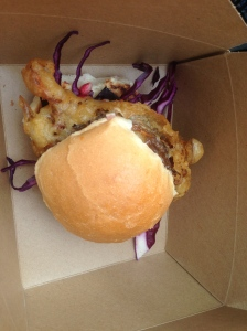 Softshell crab burger