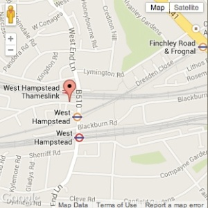 Map of West Hampstead Farmers' Market