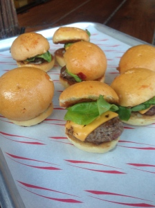 Sliders at Grand Union's outdoor BBQ
