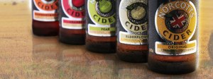 The range of Norcotts Ciders