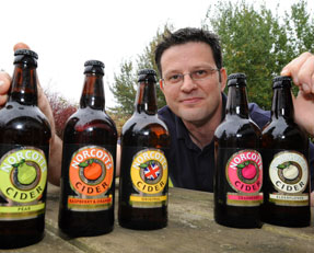 Chris with his ciders