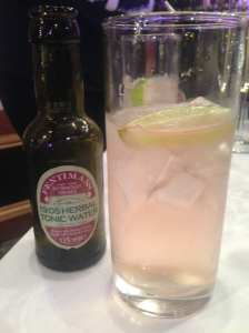 Herbal Tonic Water Cocktail with Pinkster Gin