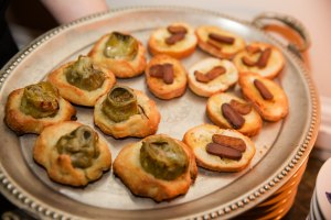 Artichoke bread nibbles and crostini